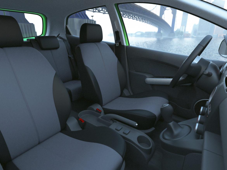 hatchback mazda 2 2008 3d model 3ds max fbx c4d dae obj 307367