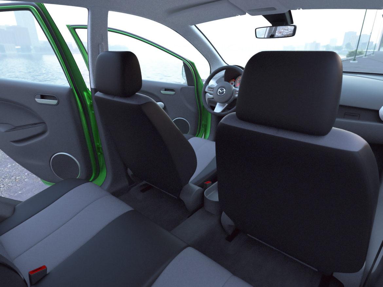 hatchback mazda 2 2008 3d model 3ds max fbx c4d dae obj 307368