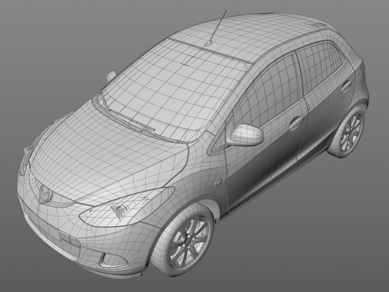 hatchback mazda 2 2008 3d model 3ds max fbx c4d dae obj 307369