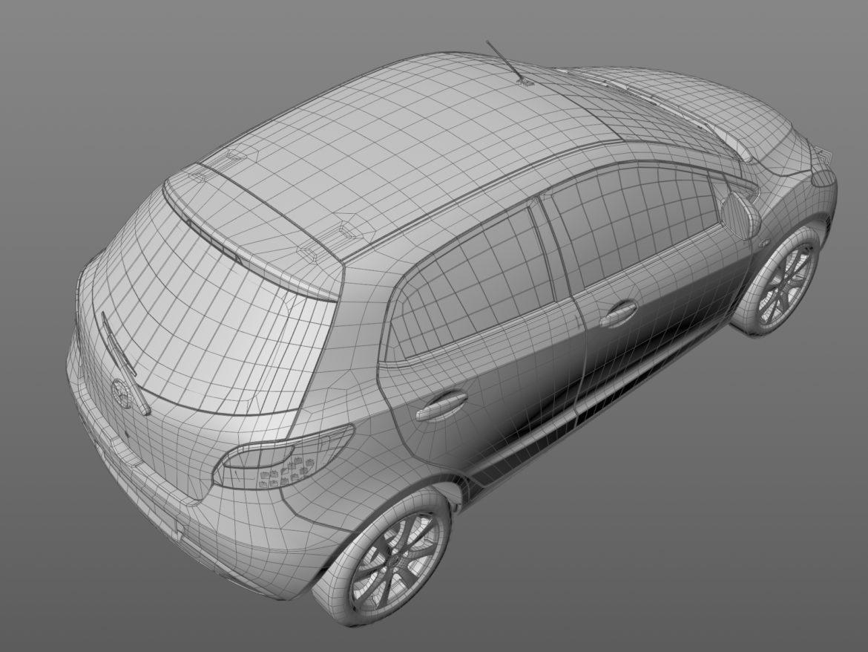 hatchback mazda 2 2008 3d model 3ds max fbx c4d dae obj 307370