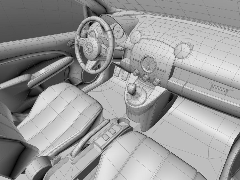 hatchback mazda 2 2008 3d model 3ds max fbx c4d dae obj 307371