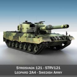stridsvagn 121 - zviedru armija 3d modelis 3ds c4d lwo faktūra obj 307478