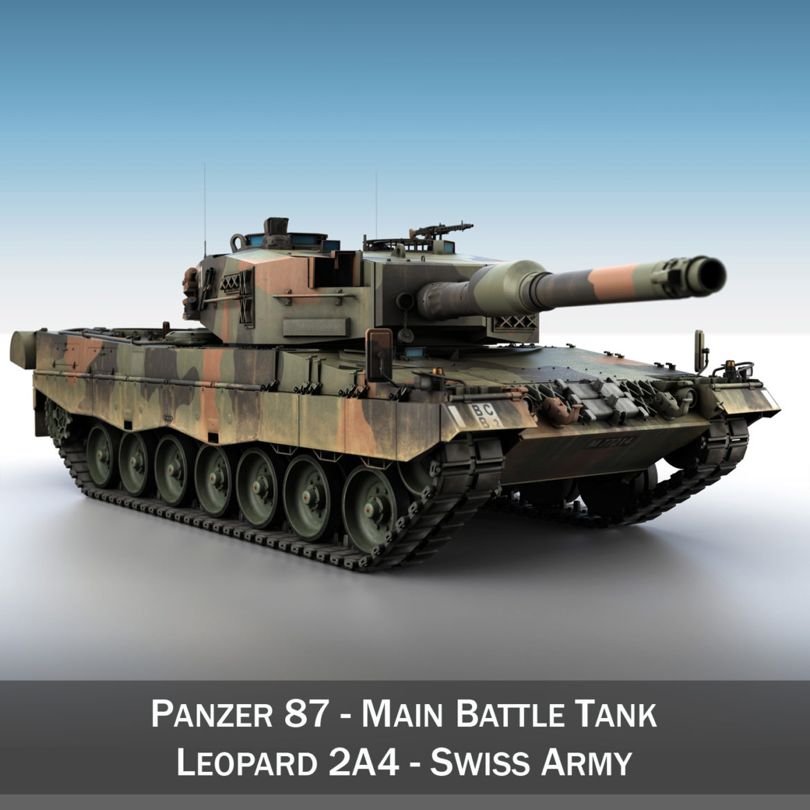 panzer 87 – swiss army 3d model 3ds c4d lwo texture obj 307505