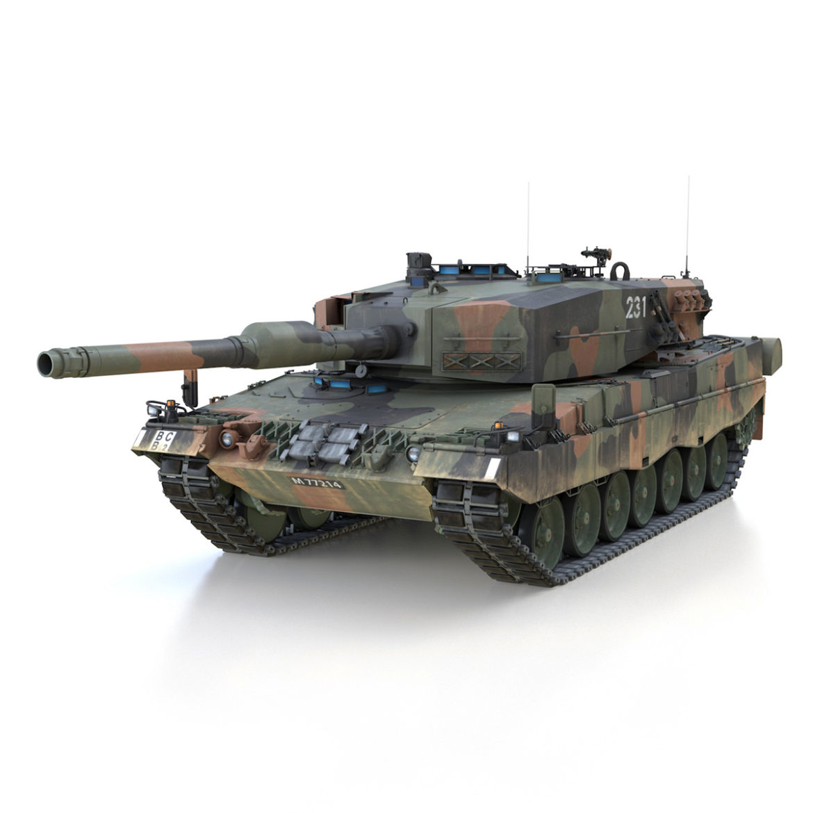 panzer 87 – swiss army 3d model 3ds c4d lwo texture obj 307506