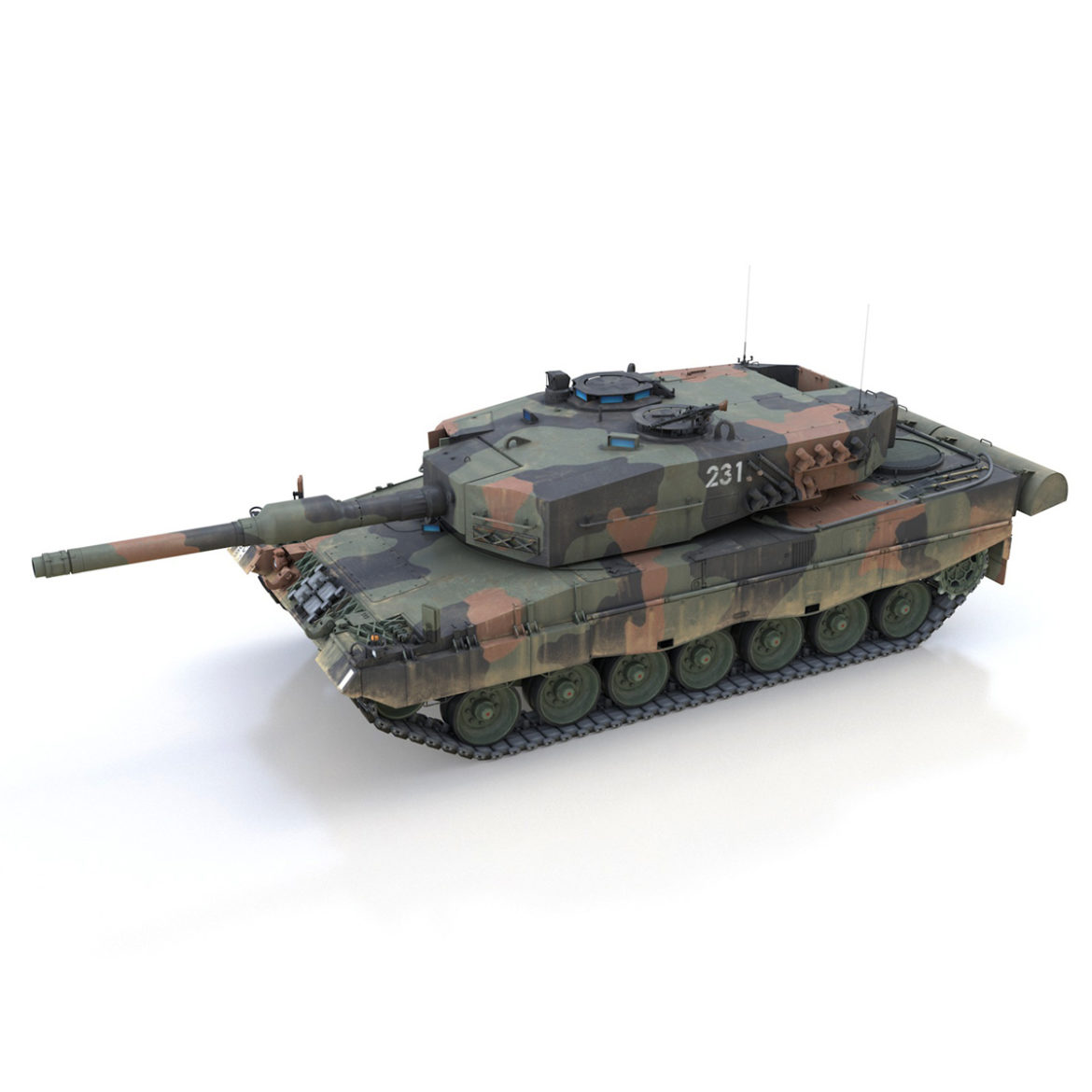 panzer 87 – swiss army 3d model 3ds c4d lwo texture obj 307507