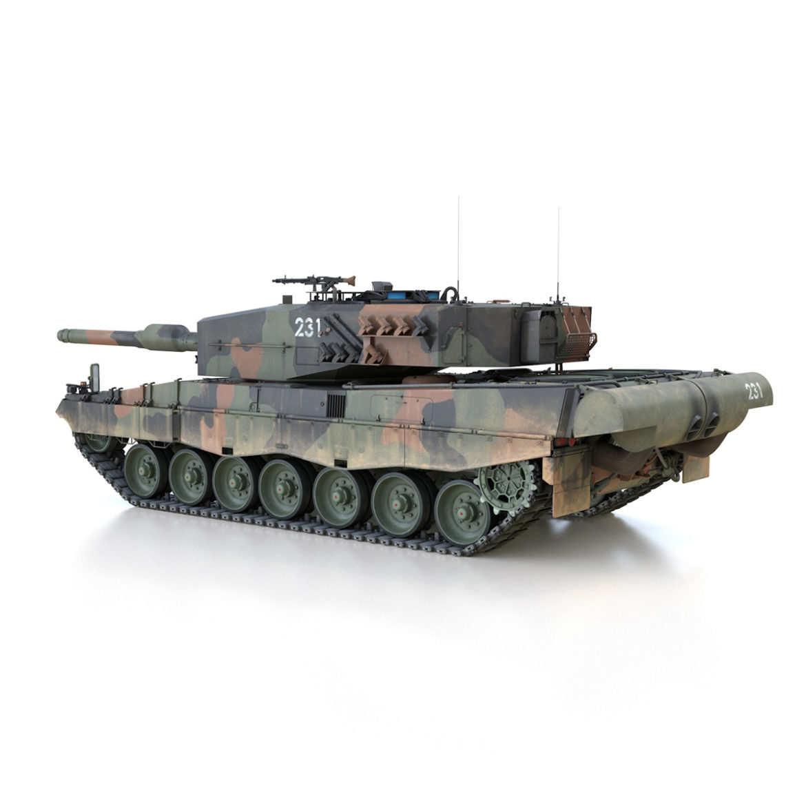 panzer 87 – swiss army 3d model 3ds c4d lwo texture obj 307508