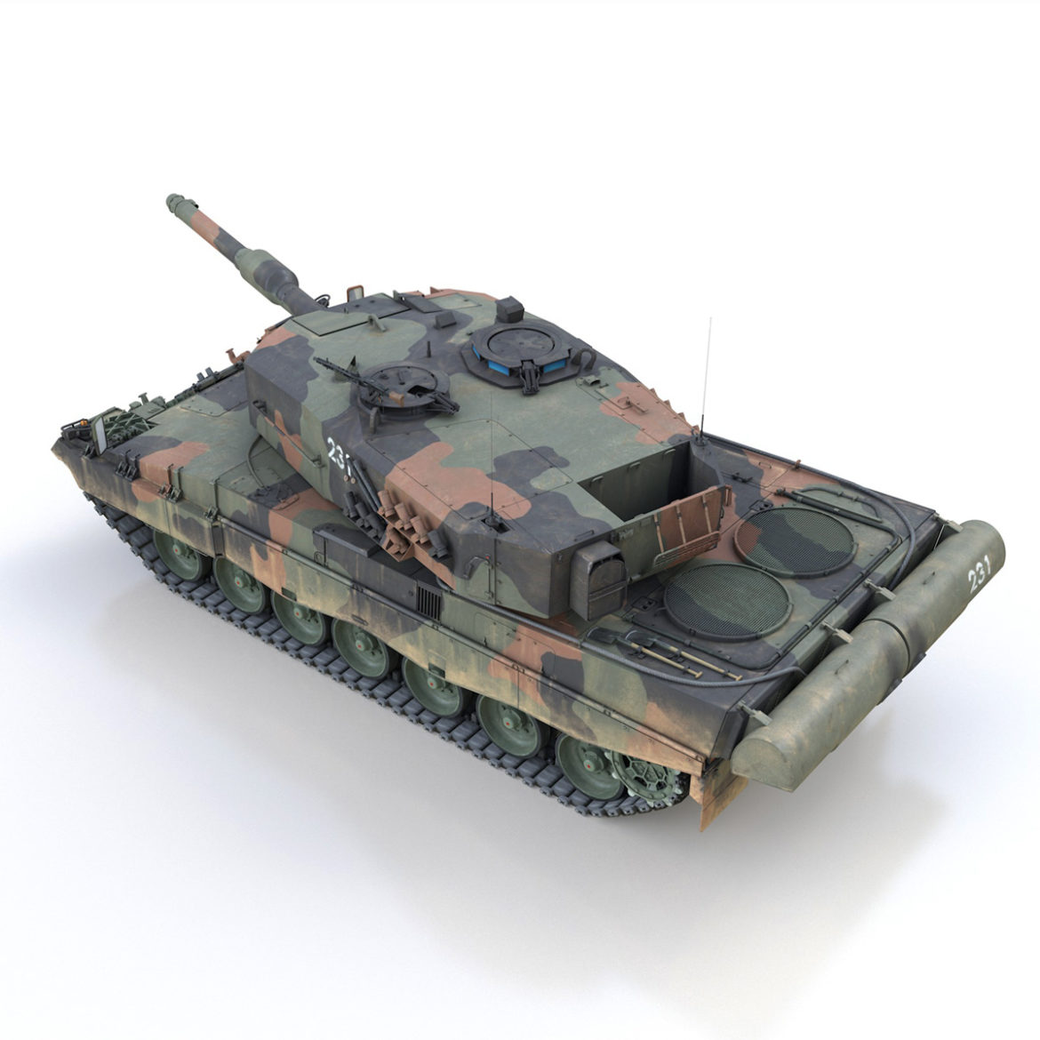 panzer 87 – swiss army 3d model 3ds c4d lwo texture obj 307509