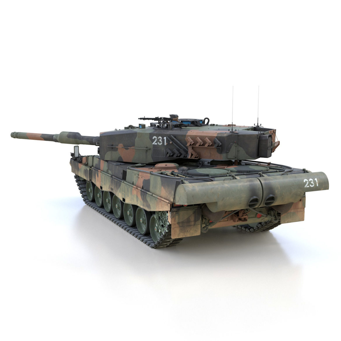 panzer 87 – swiss army 3d model 3ds c4d lwo texture obj 307510