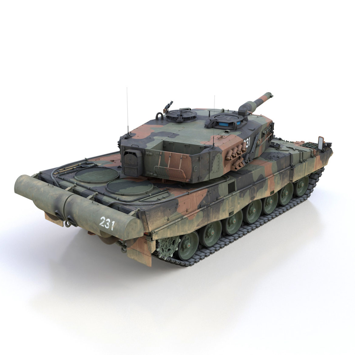 panzer 87 – swiss army 3d model 3ds c4d lwo texture obj 307511