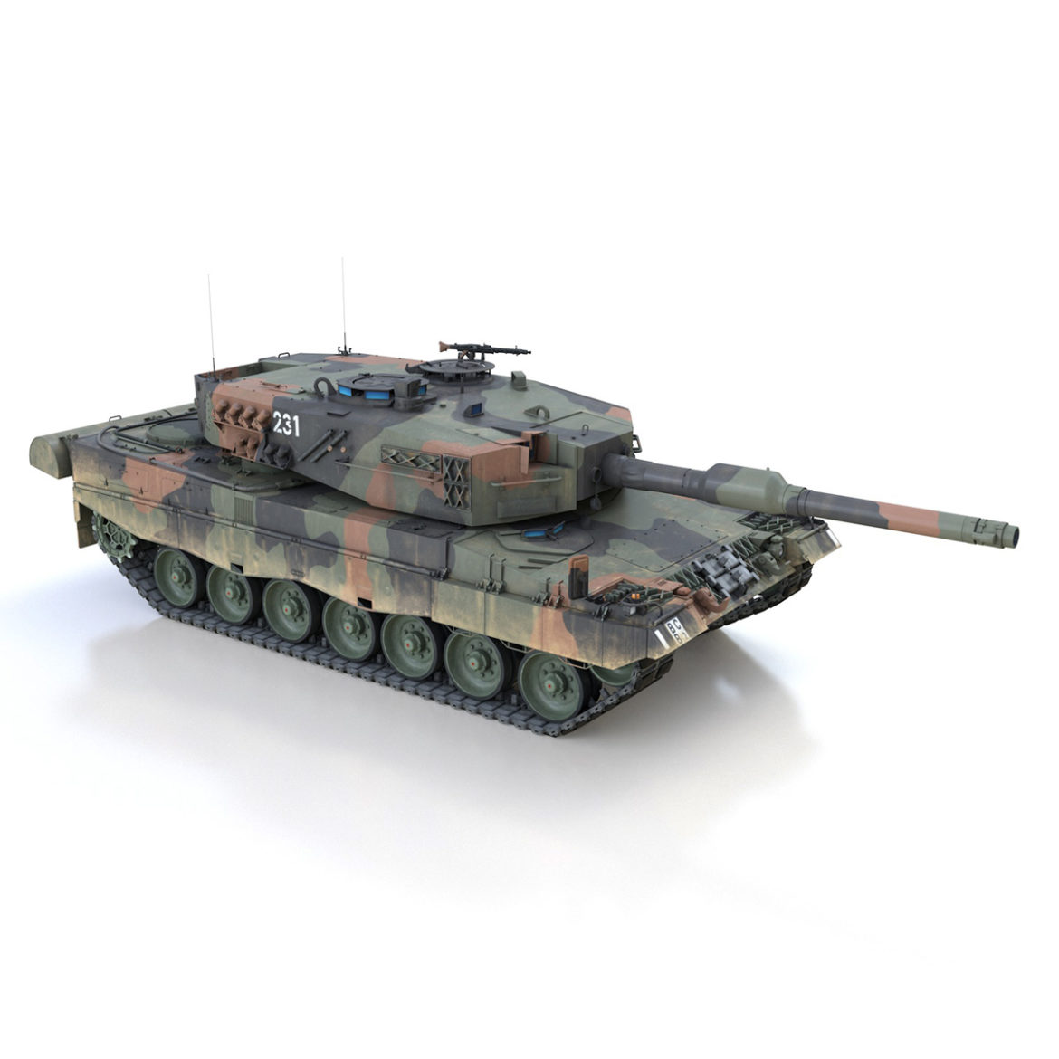 panzer 87 – swiss army 3d model 3ds c4d lwo texture obj 307513