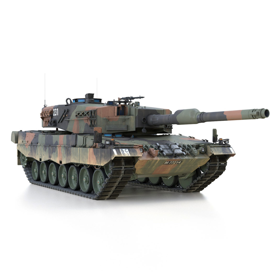 panzer 87 – swiss army 3d model 3ds c4d lwo texture obj 307514