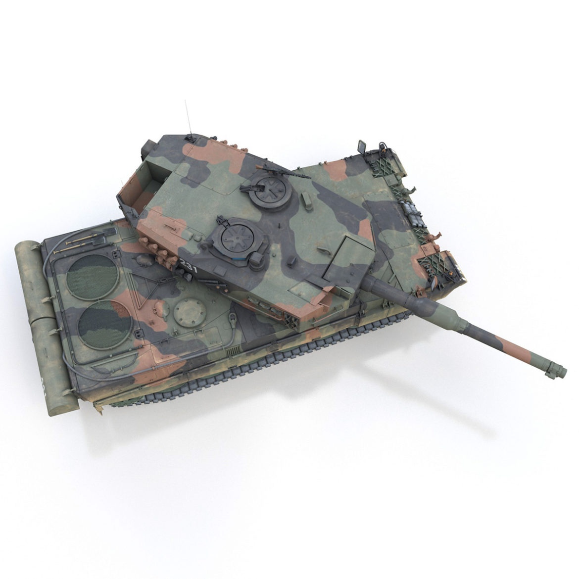 panzer 87 – swiss army 3d model 3ds c4d lwo texture obj 307515