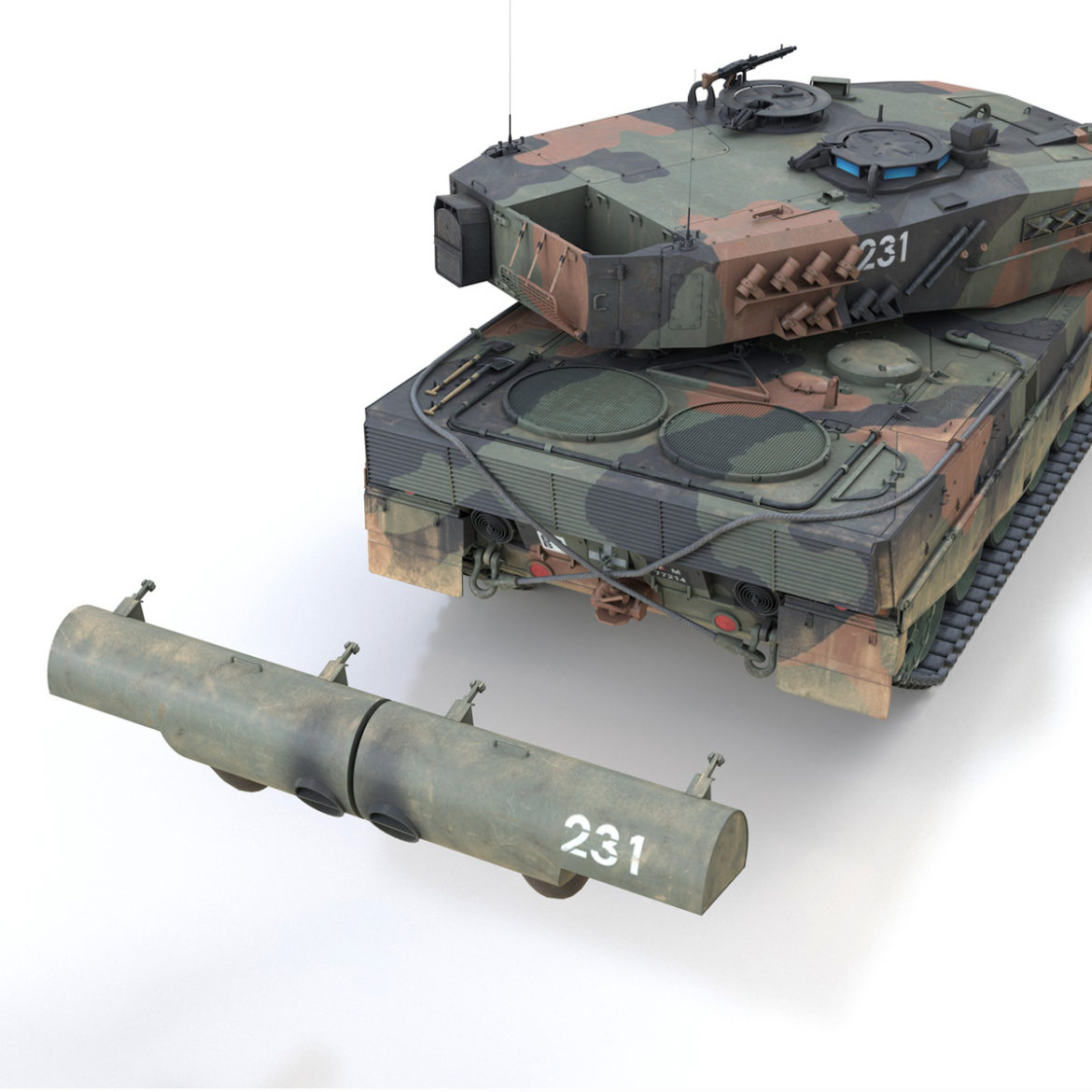 panzer 87 – swiss army 3d model 3ds c4d lwo texture obj 307516