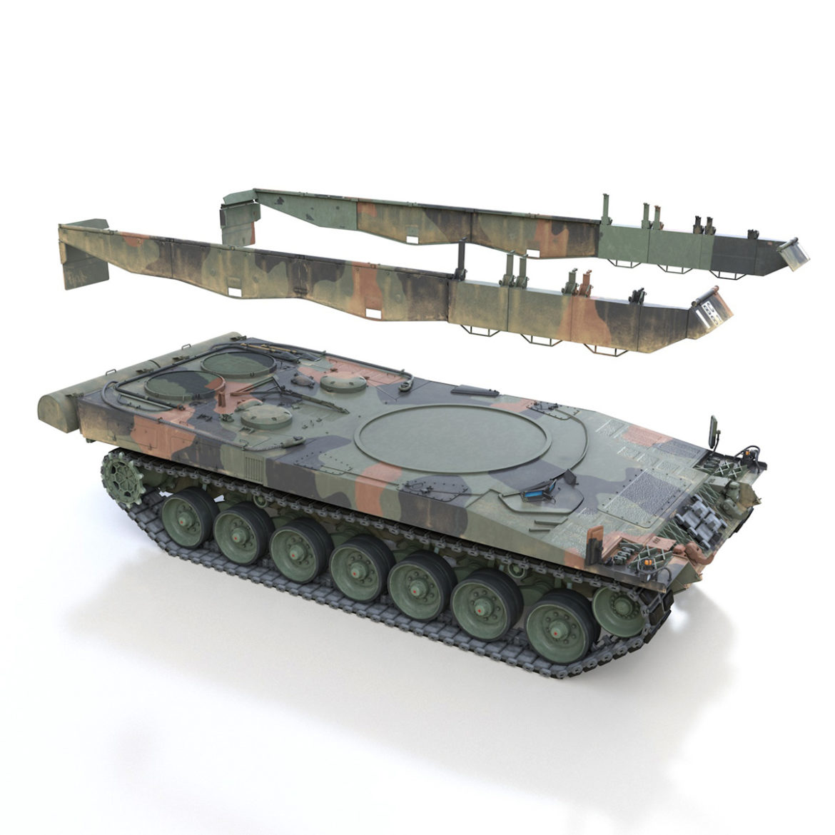 panzer 87 – swiss army 3d model 3ds c4d lwo texture obj 307518