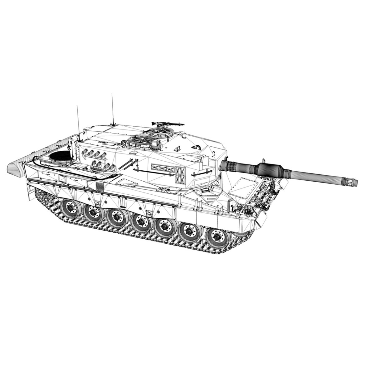 panzer 87 – swiss army 3d model 3ds c4d lwo texture obj 307520