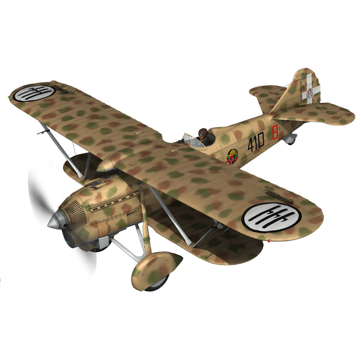 fiat cr.32 – italy airforce – 410 squadriglia 3d model fbx c4d lwo obj 307542