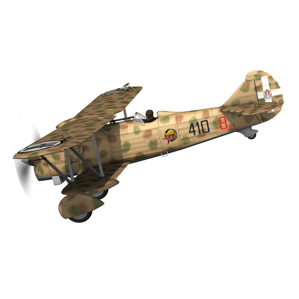 fiat cr.32 – italy airforce – 410 squadriglia 3d model fbx c4d lwo obj 307543