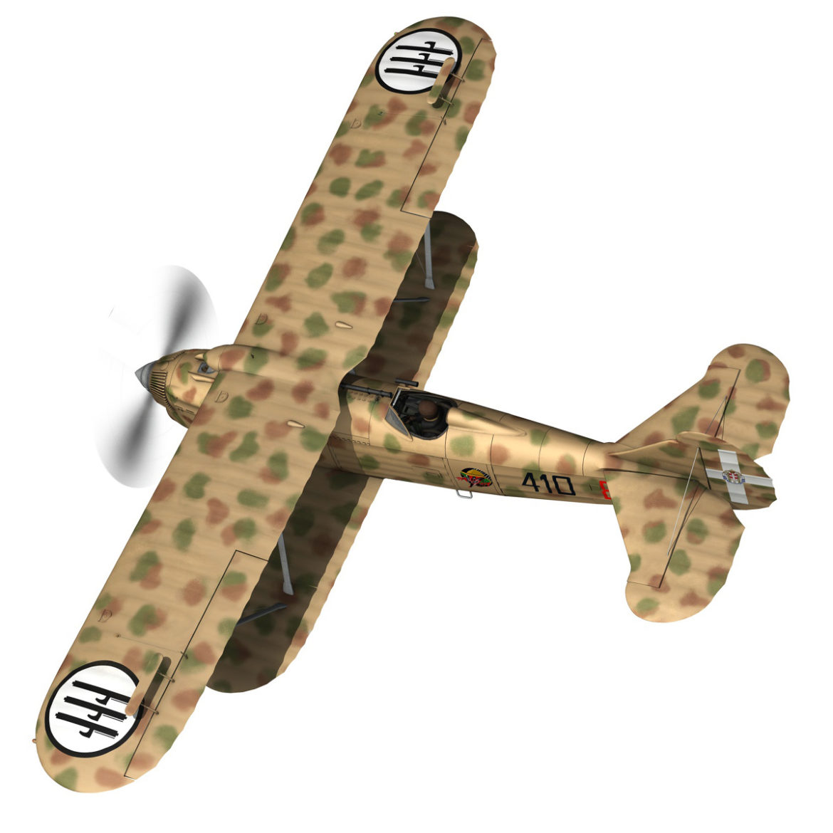 fiat cr.32 – italy airforce – 410 squadriglia 3d model fbx c4d lwo obj 307544