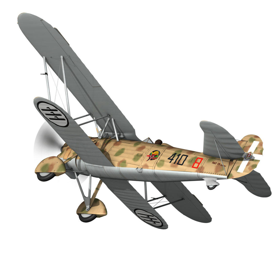 fiat cr.32 – italy airforce – 410 squadriglia 3d model fbx c4d lwo obj 307545