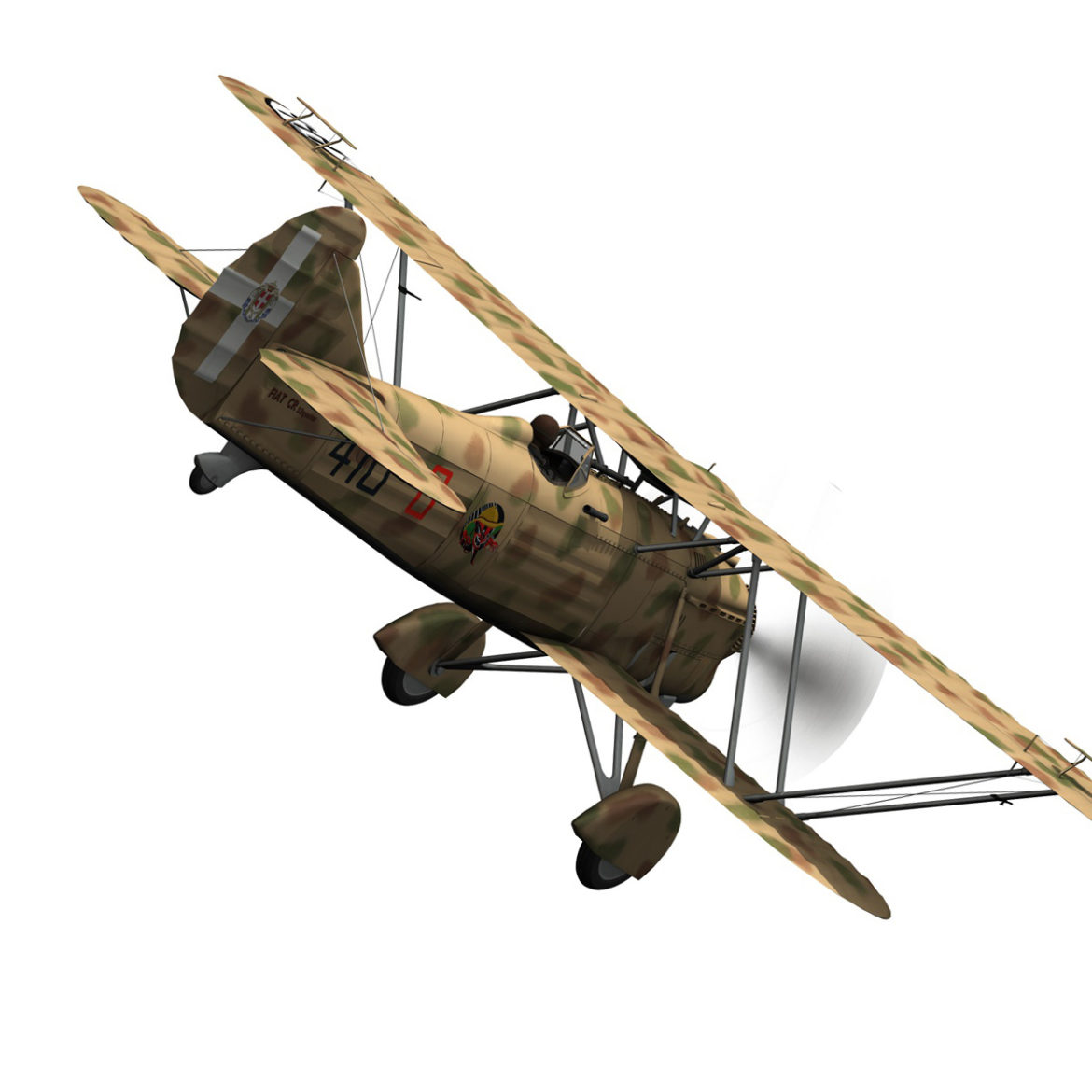fiat cr.32 – italy airforce – 410 squadriglia 3d model fbx c4d lwo obj 307546