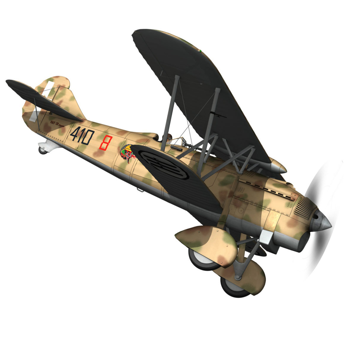 fiat cr.32 – italy airforce – 410 squadriglia 3d model fbx c4d lwo obj 307547