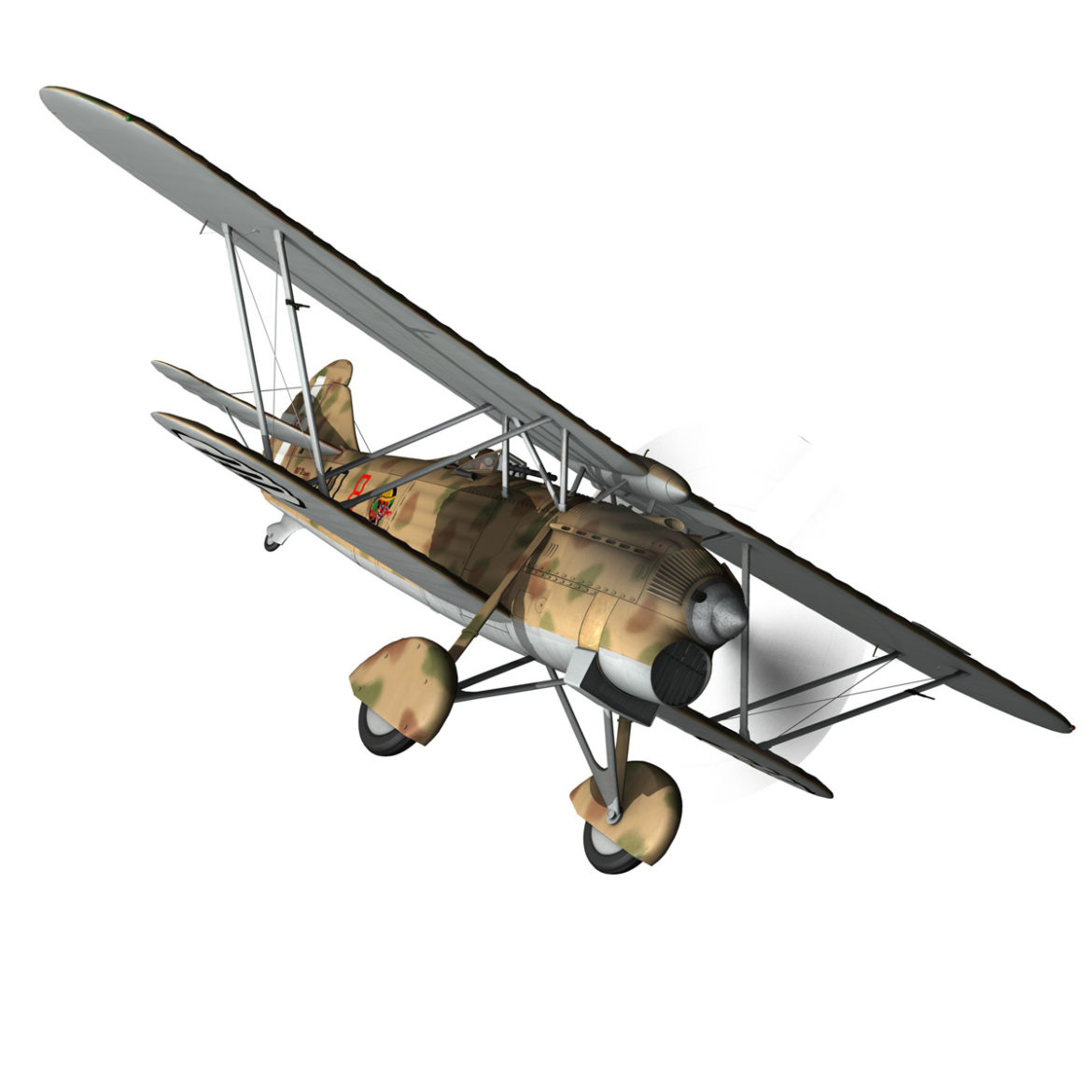 fiat cr.32 – italy airforce – 410 squadriglia 3d model fbx c4d lwo obj 307548