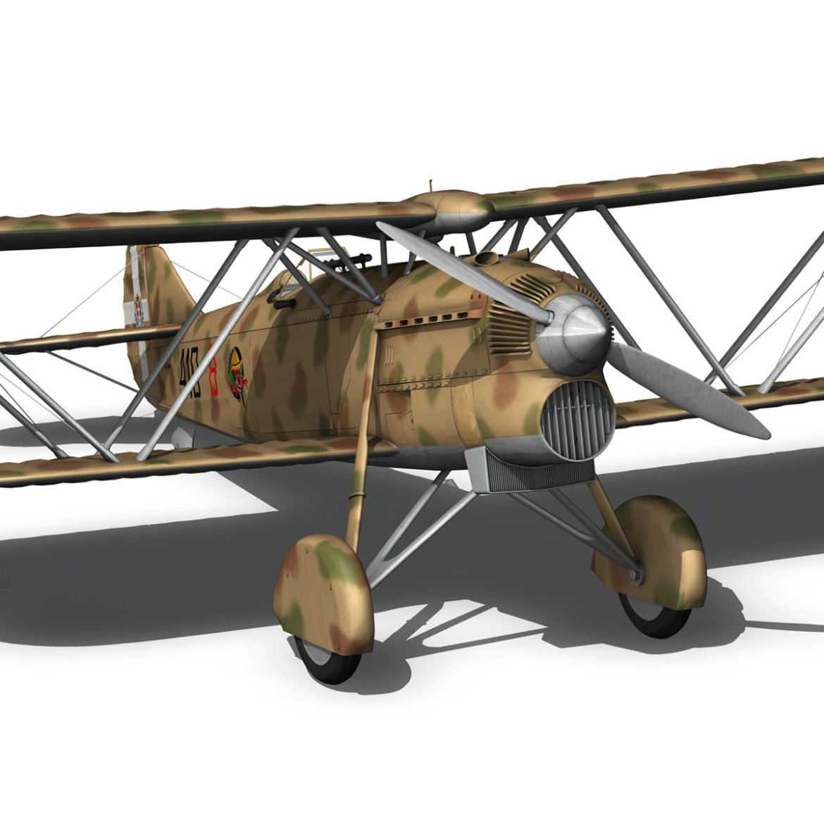 fiat cr.32 – italy airforce – 410 squadriglia 3d model fbx c4d lwo obj 307550