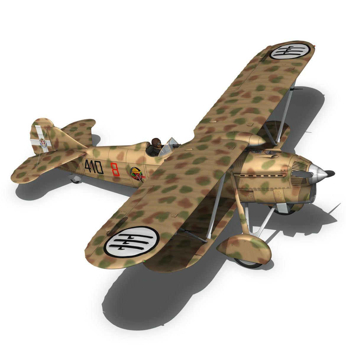fiat cr.32 – italy airforce – 410 squadriglia 3d model fbx c4d lwo obj 307551