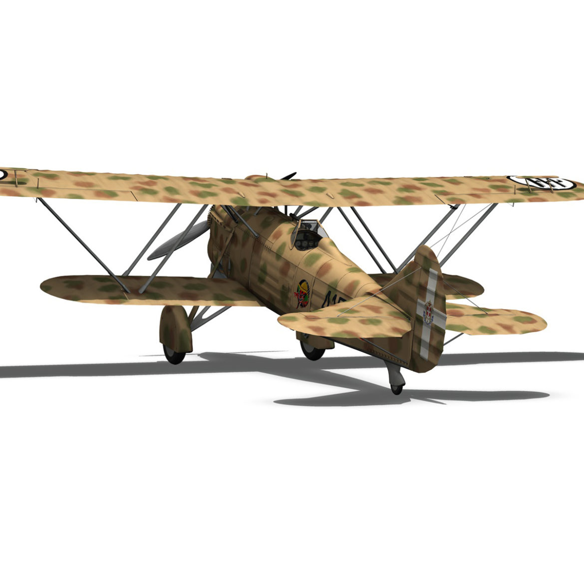 fiat cr.32 – italy airforce – 410 squadriglia 3d model fbx c4d lwo obj 307552