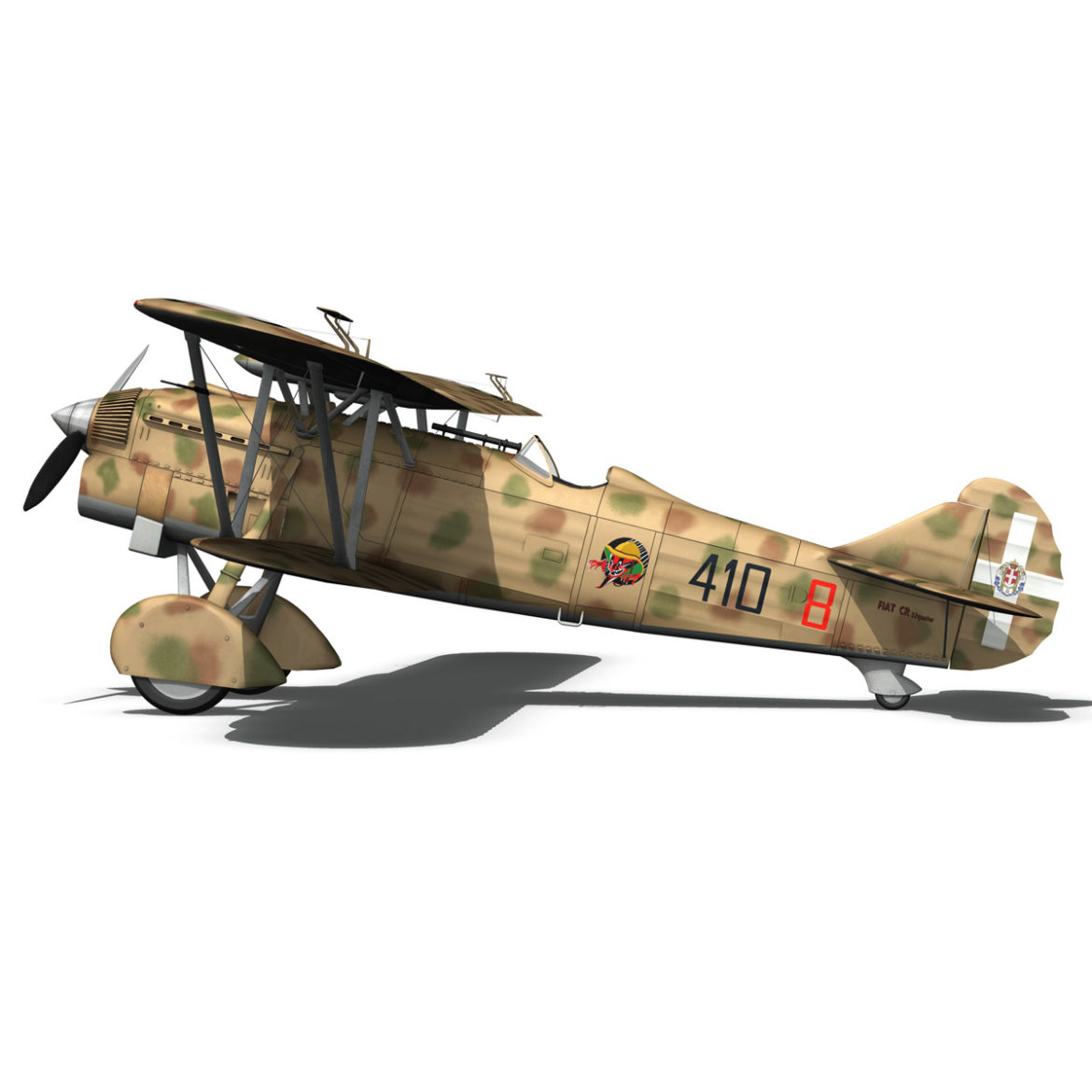 fiat cr.32 – italy airforce – 410 squadriglia 3d model fbx c4d lwo obj 307553