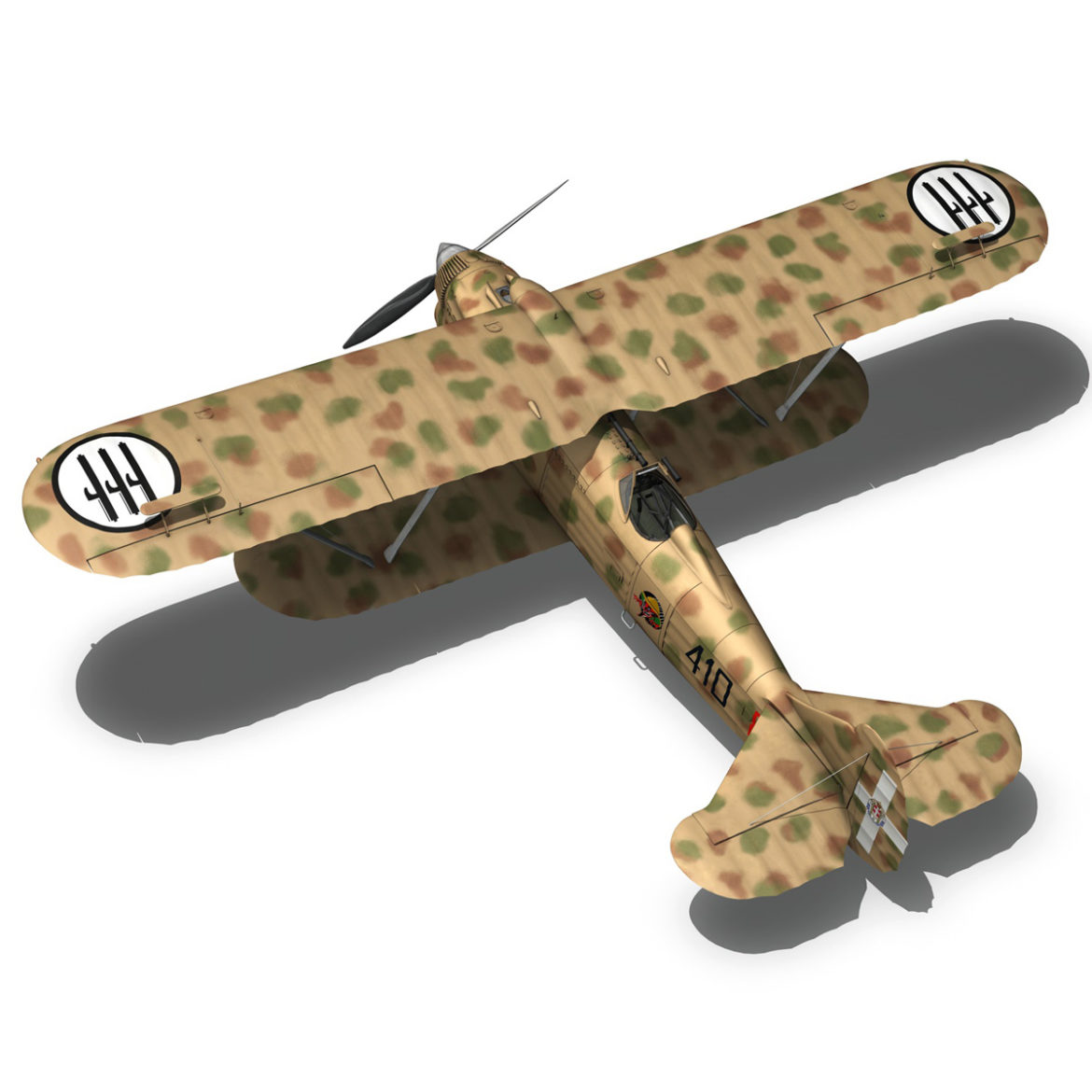 fiat cr.32 – italy airforce – 410 squadriglia 3d model fbx c4d lwo obj 307554