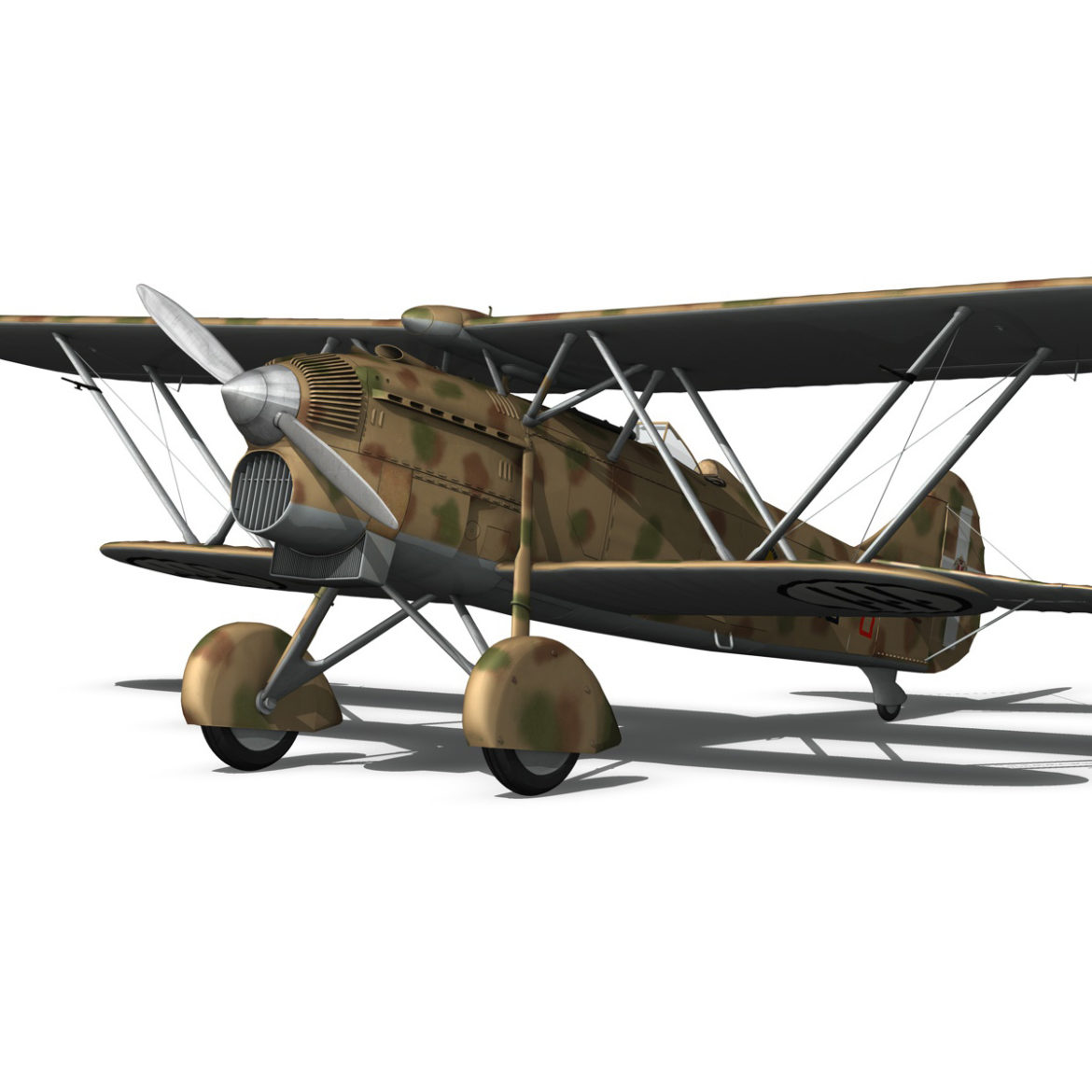 fiat cr.32 – italy airforce – 410 squadriglia 3d model fbx c4d lwo obj 307555