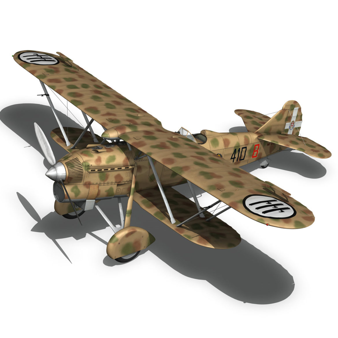 fiat cr.32 – italy airforce – 410 squadriglia 3d model fbx c4d lwo obj 307556