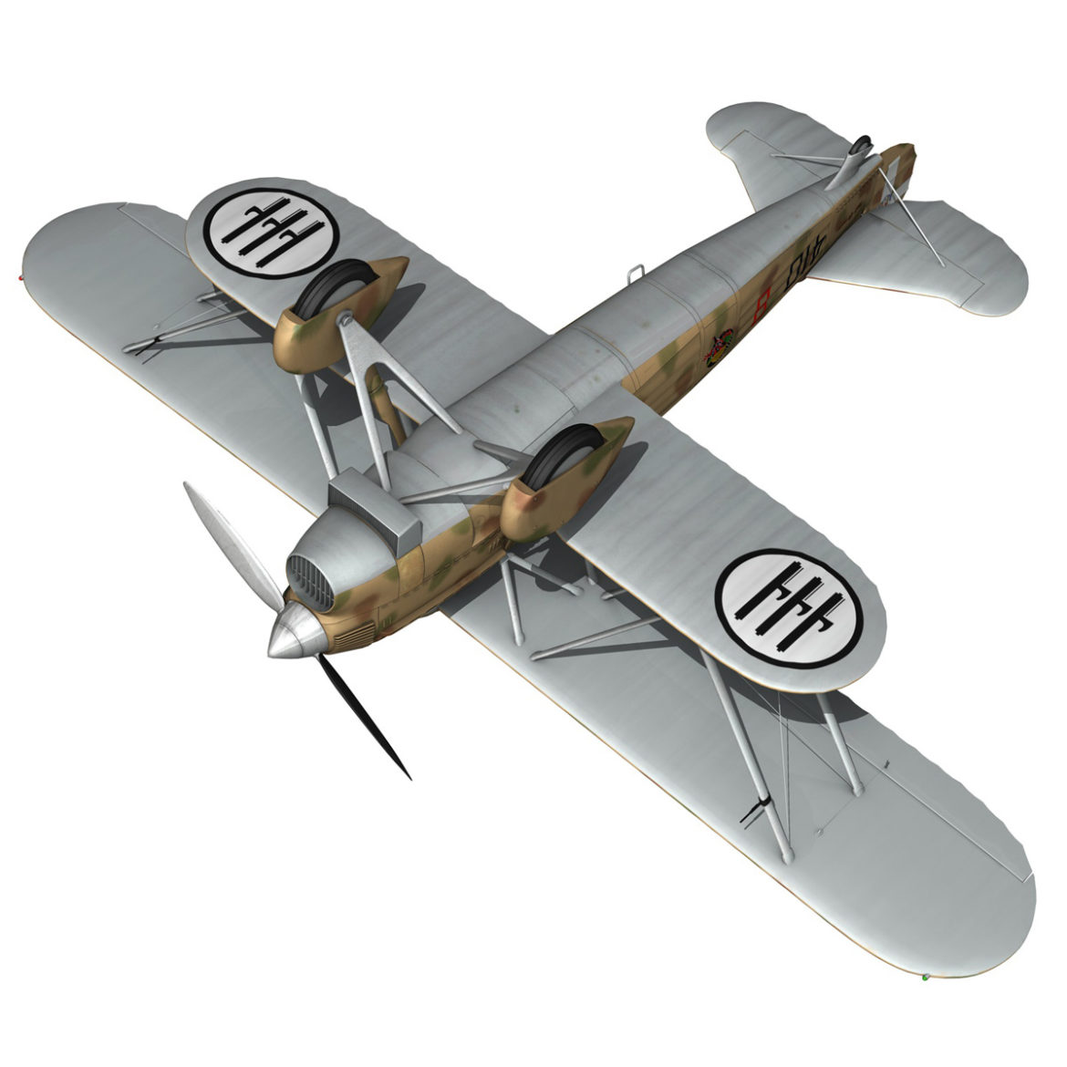 fiat cr.32 – italy airforce – 410 squadriglia 3d model fbx c4d lwo obj 307559