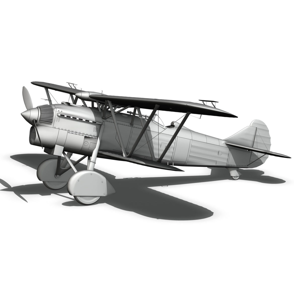 fiat cr.32 – italy airforce – 410 squadriglia 3d model fbx c4d lwo obj 307560