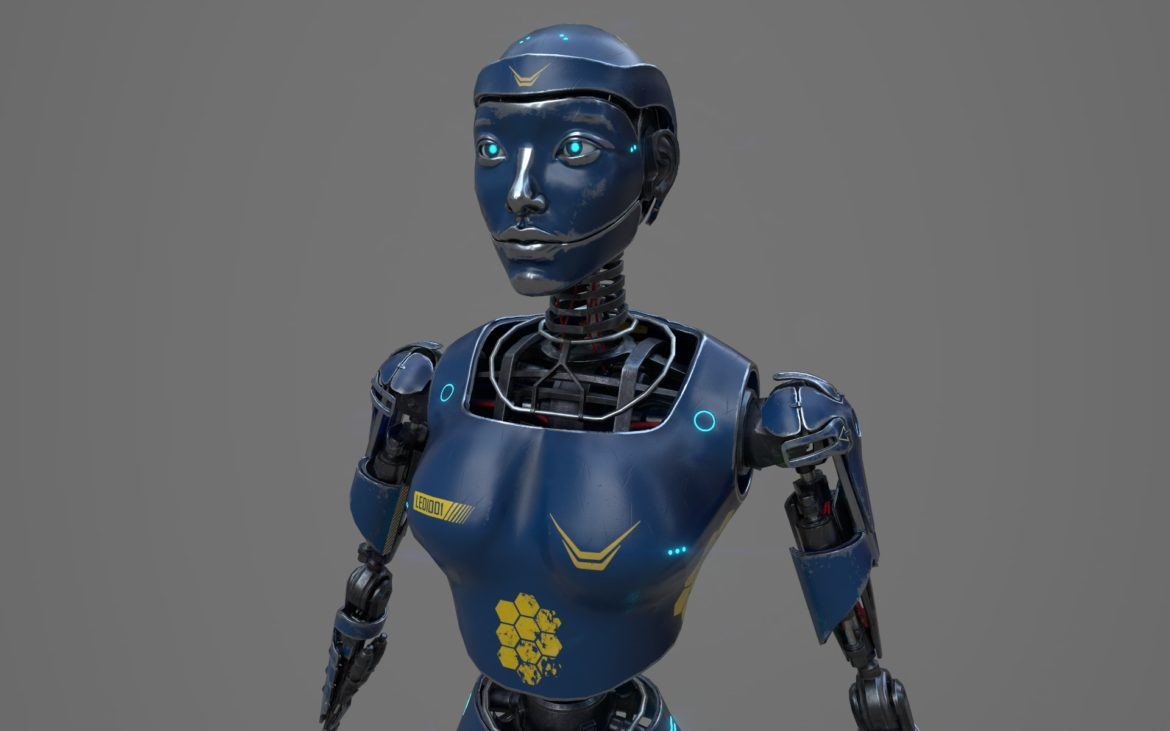 robot ledi001 3d model 3ds max fbx obj 307763