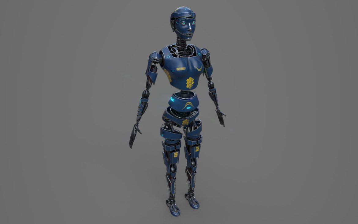 robot ledi001 3d model 3ds max fbx obj 307764