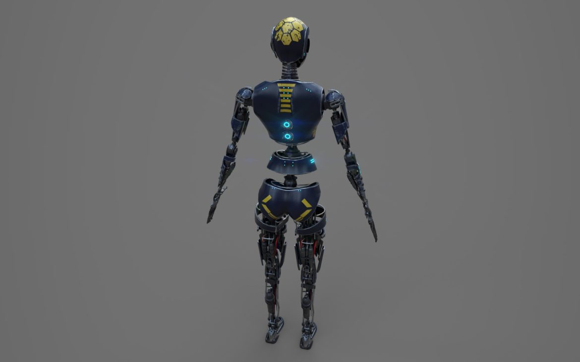 robot ledi001 3d model 3ds max fbx obj 307765