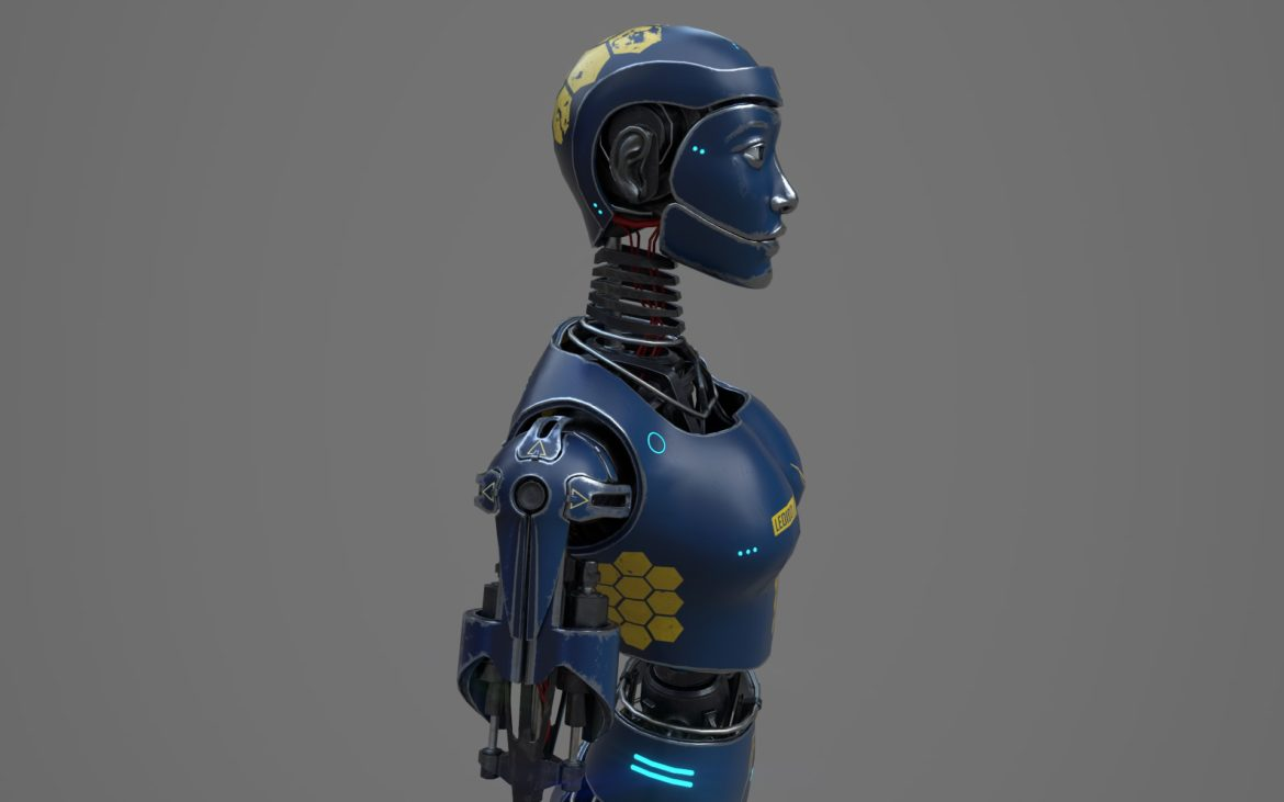 robot ledi001 3d model 3ds max fbx obj 307766