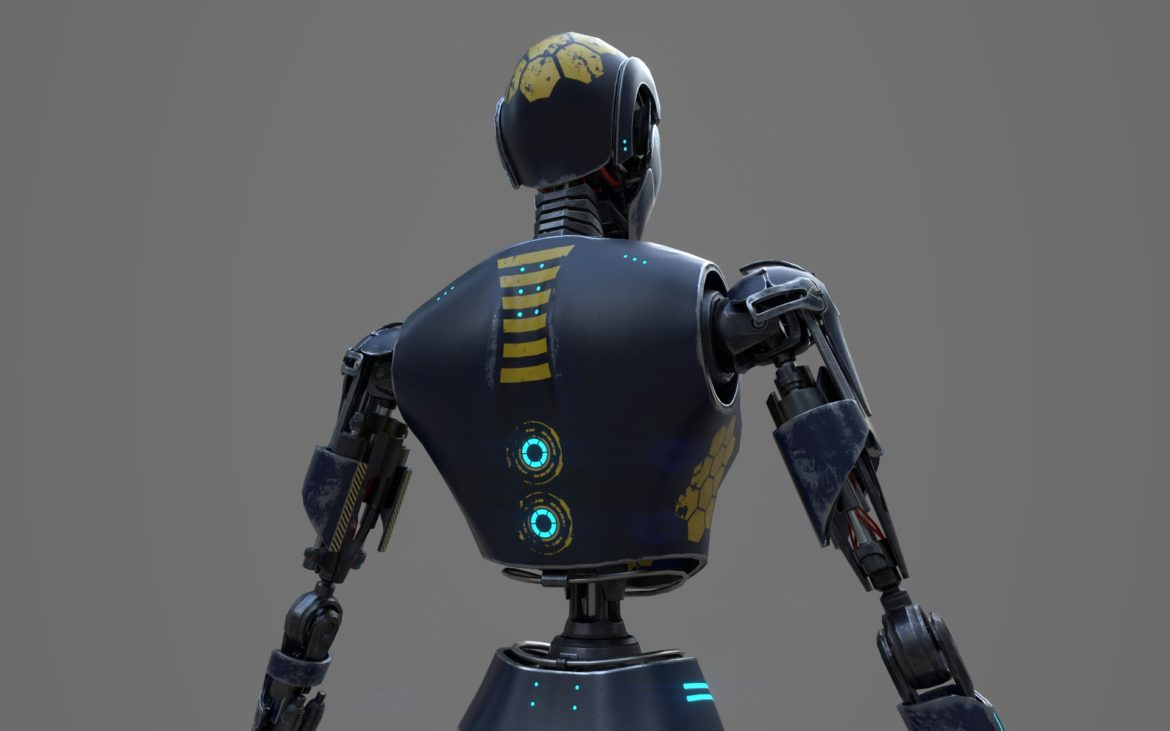 robot ledi001 3d model 3ds max fbx obj 307767