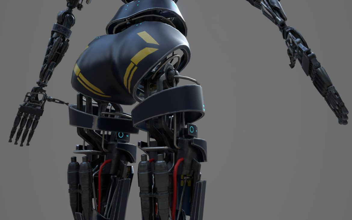 robot ledi001 3d model 3ds max fbx obj 307768