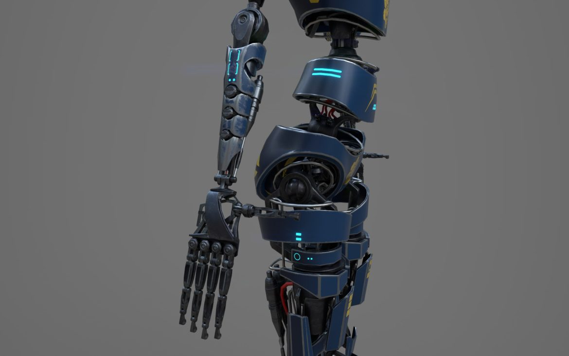 robot ledi001 3d model 3ds max fbx obj 307769
