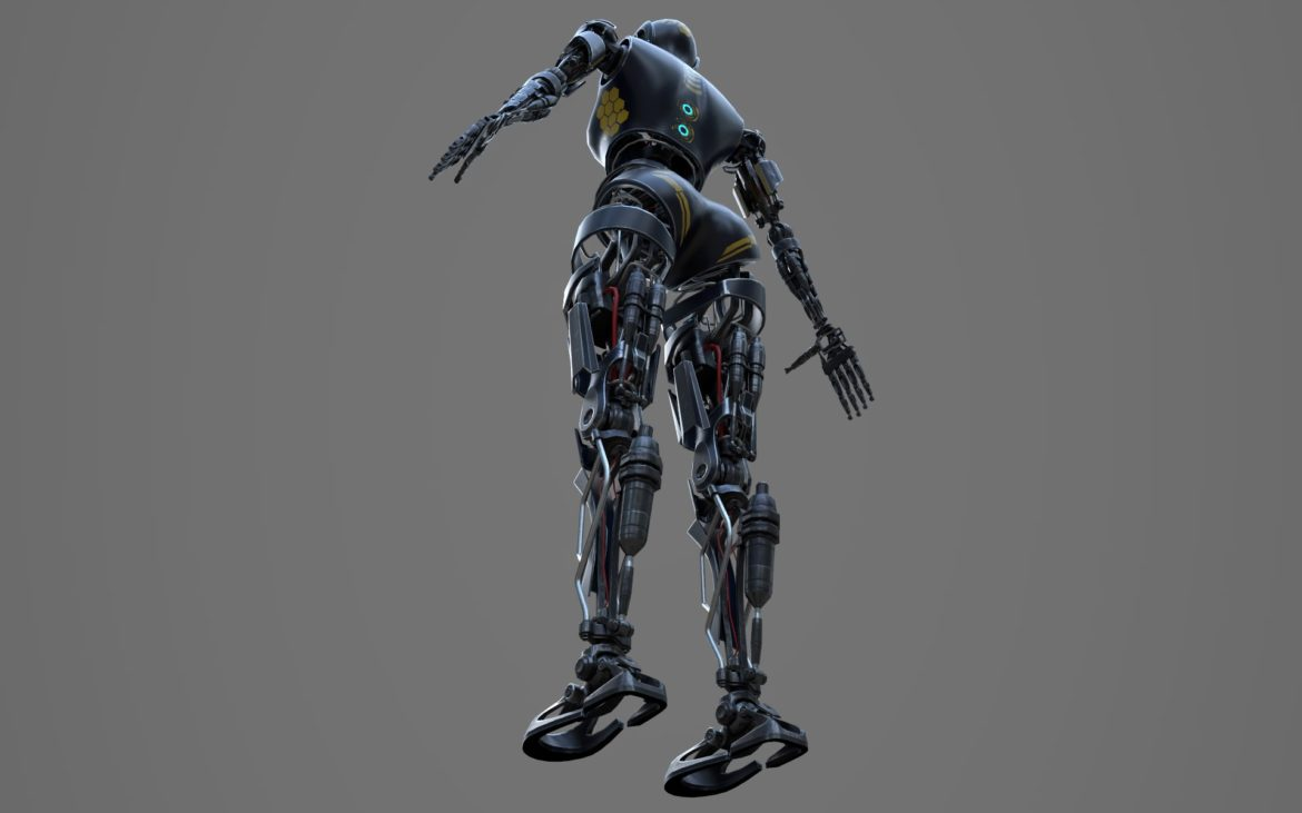 robot ledi001 3d model 3ds max fbx obj 307771