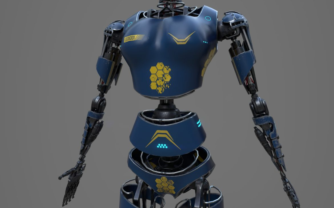 robot ledi001 3d model 3ds max fbx obj 307772