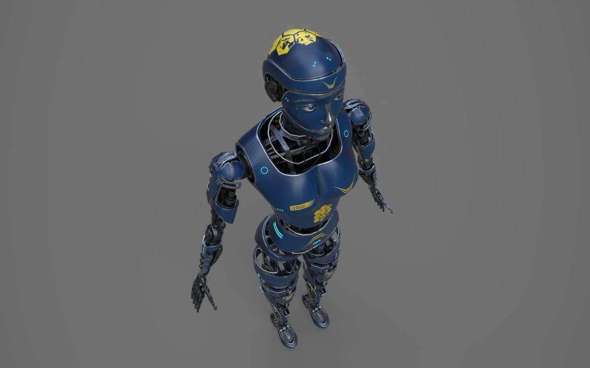 robot ledi001 3d model 3ds max fbx obj 307773