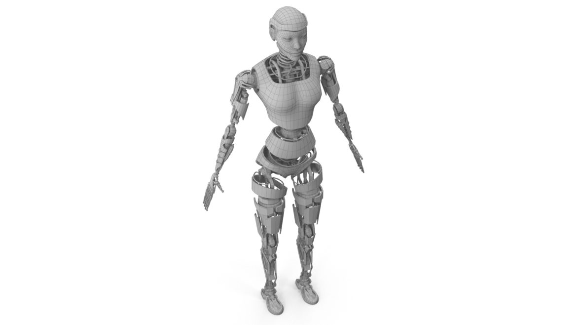 robot ledi001 3d model 3ds max fbx obj 307774