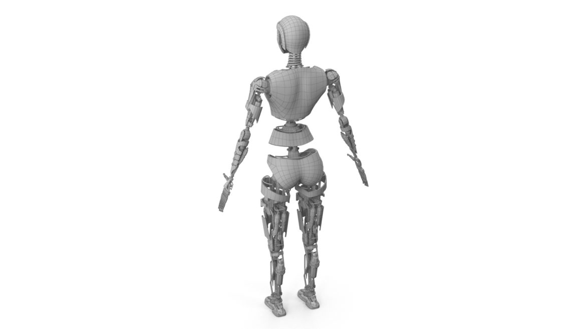 robot ledi001 3d model 3ds max fbx obj 307775