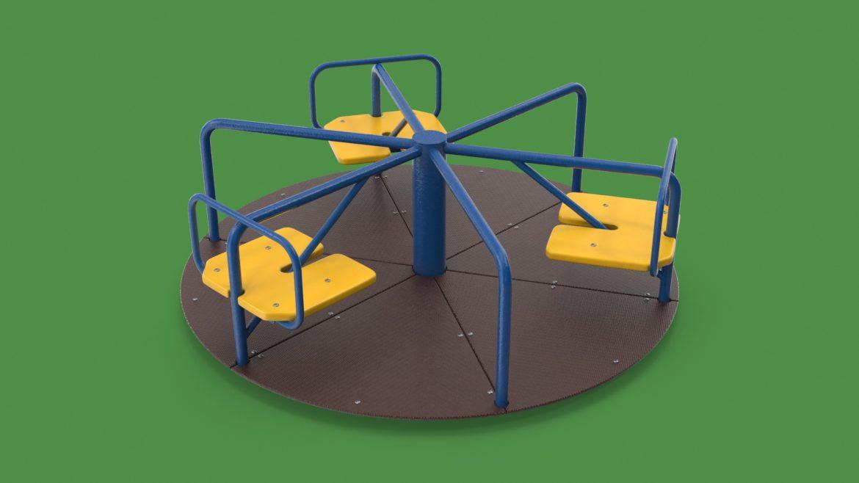 playground carousel 3d model 3ds max fbx dae  obj 308034