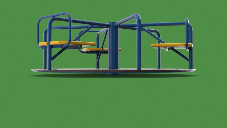 playground carousel 3d model 3ds max fbx dae  obj 308036