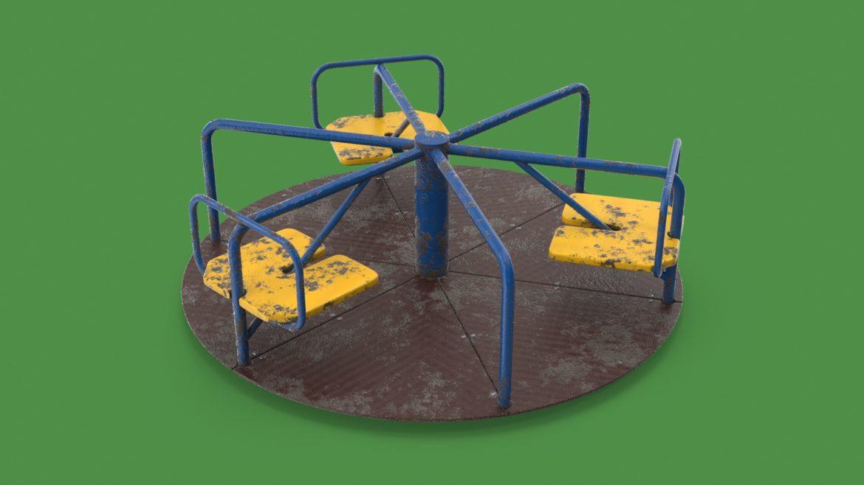 playground carousel 3d model 3ds max fbx dae  obj 308037